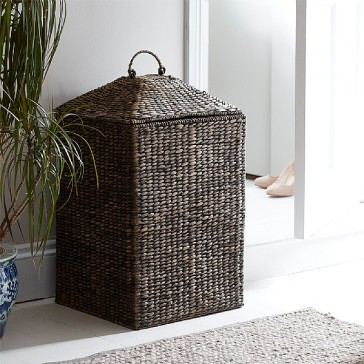 black-water-hyacinth-square-laundry-basket