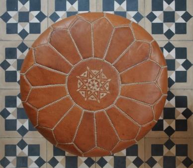 Moroccan pouffe vintage