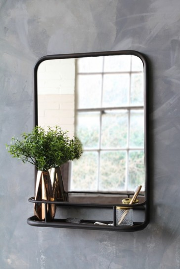 Black Antique Style Wall Mirror