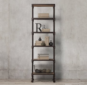 RH Dutch Industrial Narrow Single Shelving