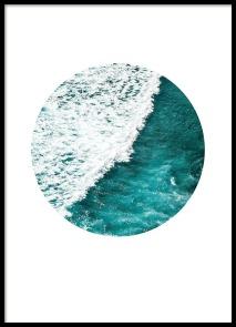 85008 Sea foam circle 50x70