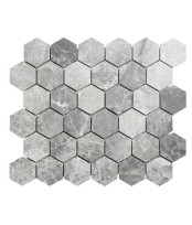 Topps Tiles Lantau Grey Mosaic Hexagonal