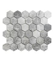 Topps Tiles Lantau Grey Mosaic Hexagonal