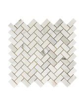 Topps Tiles Misty Fjord Herringbone Honed Tiled