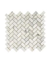 Topps Tiles Misty Fjord Herringbone Honed Tiled