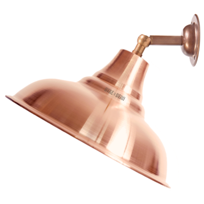 Dyke And Dean Copper Spun Shade Wall Arm Lamp