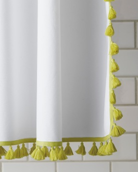 French Tassel Shower Curtain