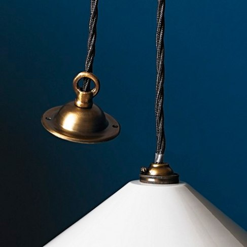 Pooky Classic Pendant Light Kit In Antiqued Brass