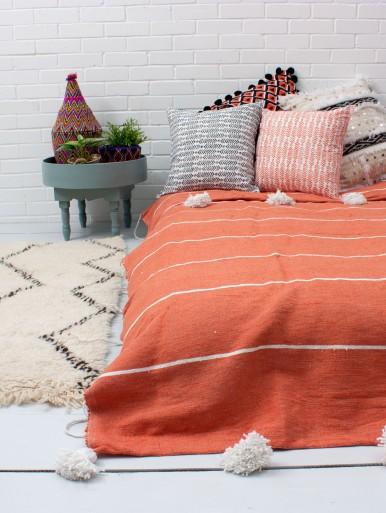 Tassel Pom Pom Blanket
