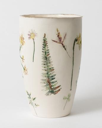 Felicity Jones Wild Garden Unglazed Round Vase